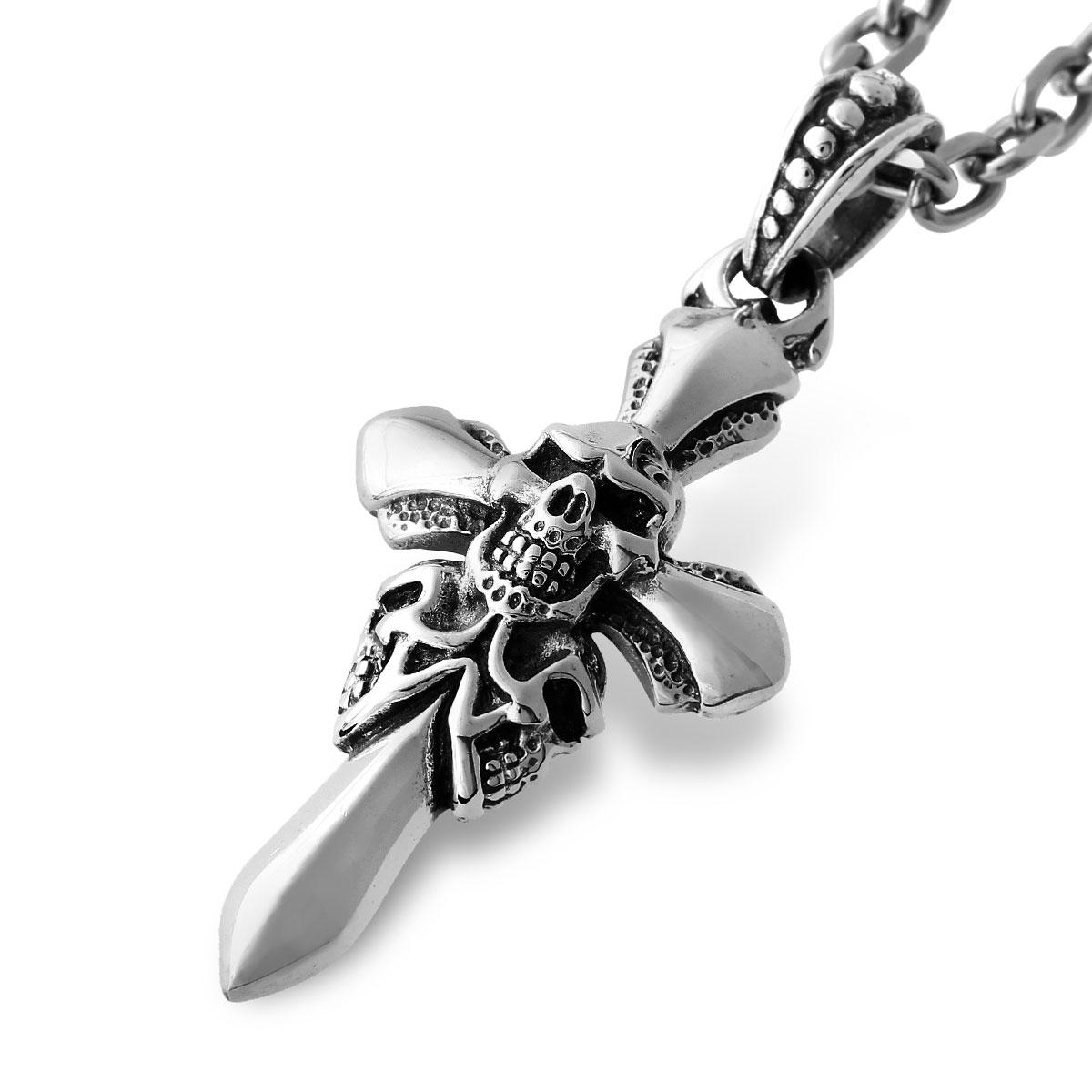 ASC6 十字骷髏項鍊