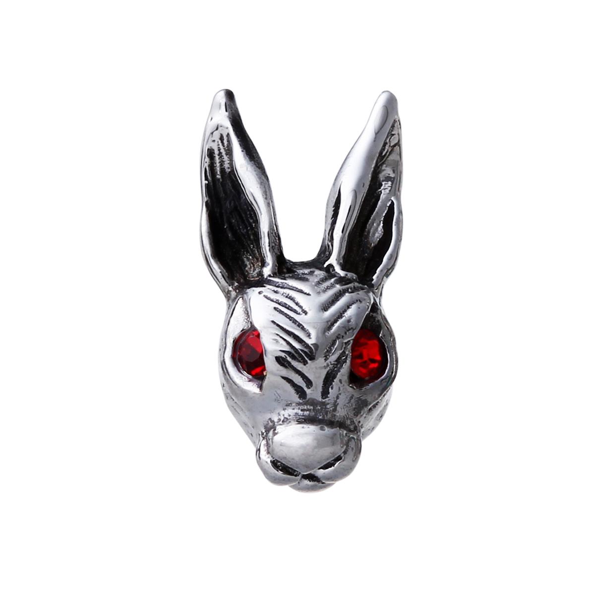 EA112 復古有型兔子造型耳環/單隻販售