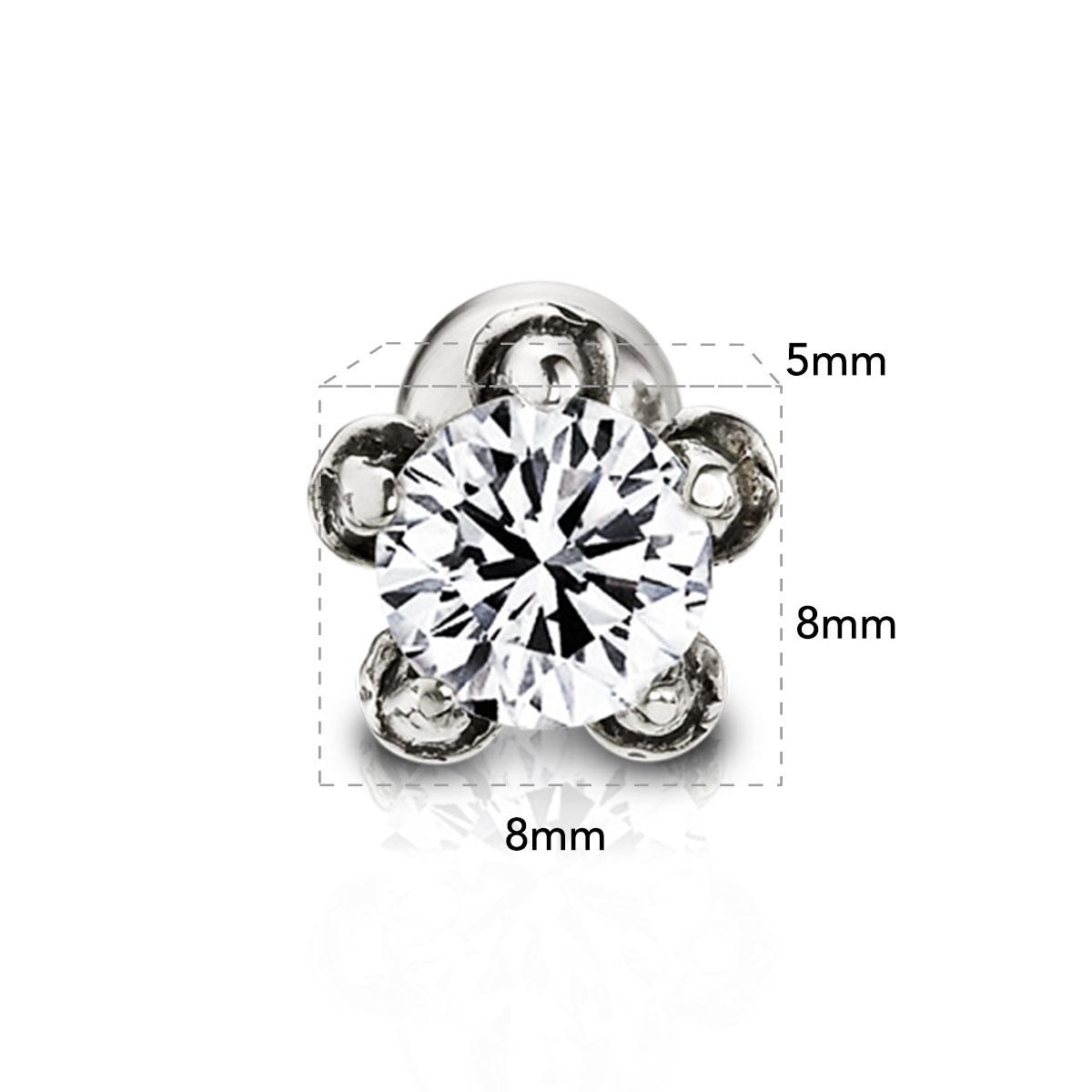 EA34 龍爪晶鑽耳環/單隻販售