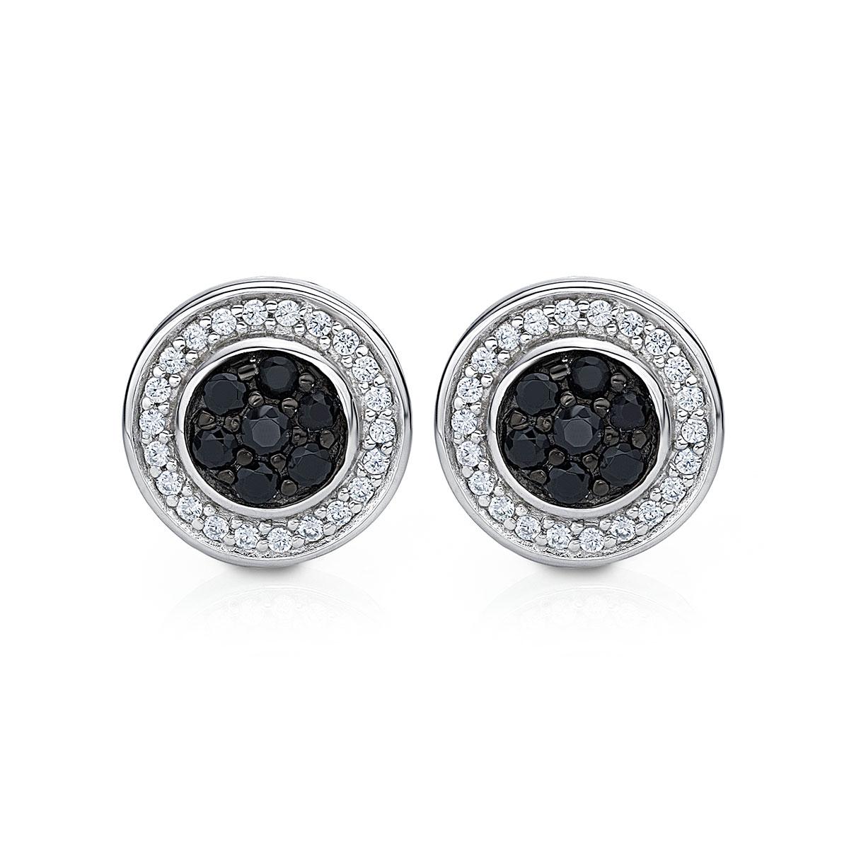 ED145 璀璨軌跡-同心圓奢華耳環/一對販售