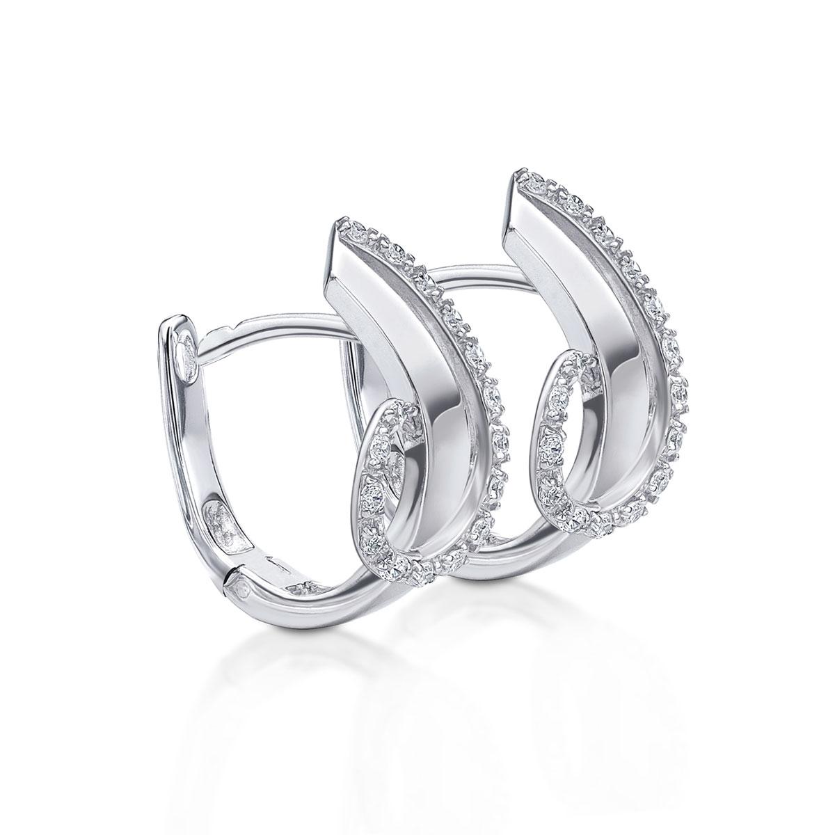 ED147 璀璨軌跡-氣質曲貝奢華耳環/一對販售