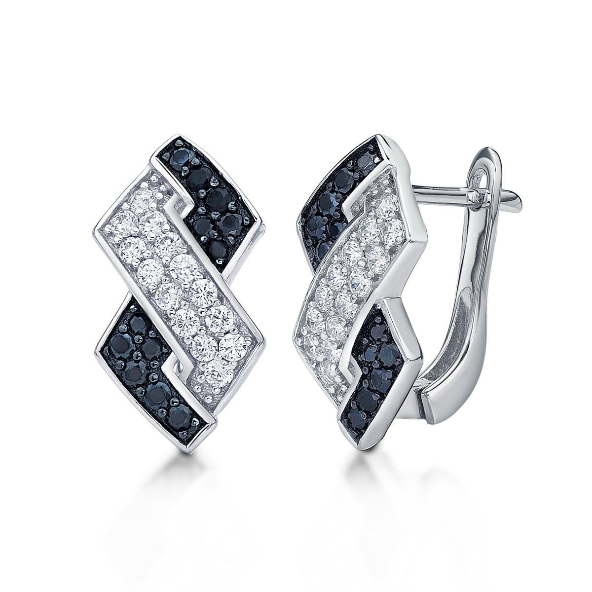 ED154 璀璨軌跡-交錯菱形奢華耳環/一對販售