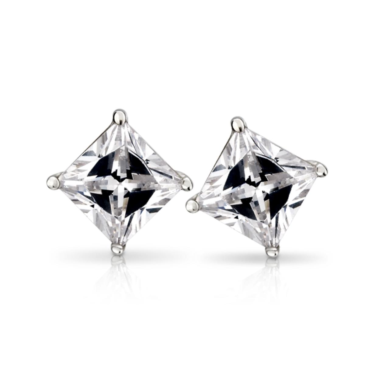 ED2 方晶鋯石耳環/一對販售