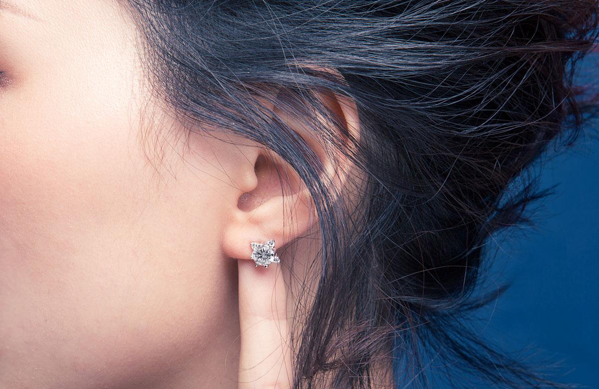 ED21 璀燦星曲璀鑽系列耳環/一對販售