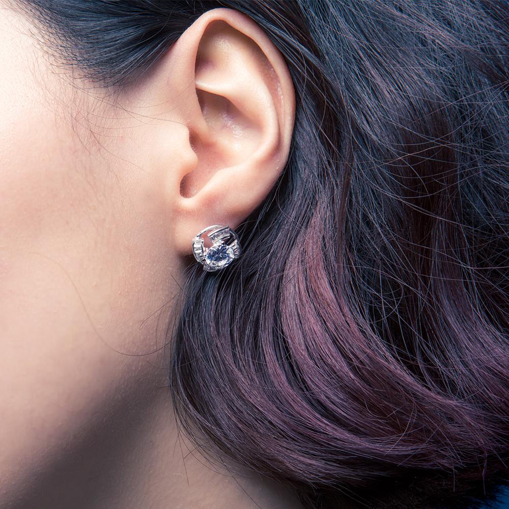 ED48 施華洛世奇元素耳環/一對販售