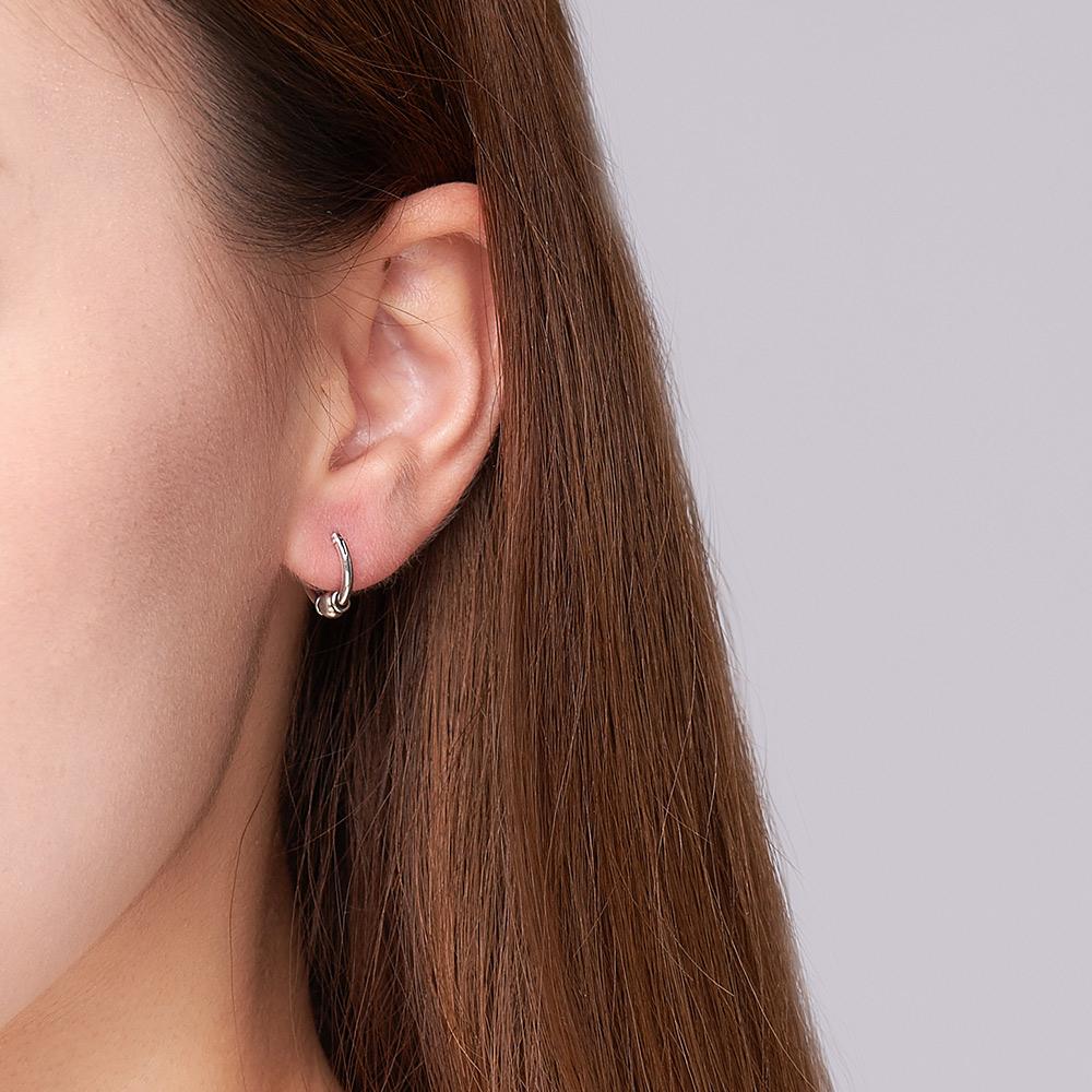 ES102 率性單珠造型硫化耳環/一對販售