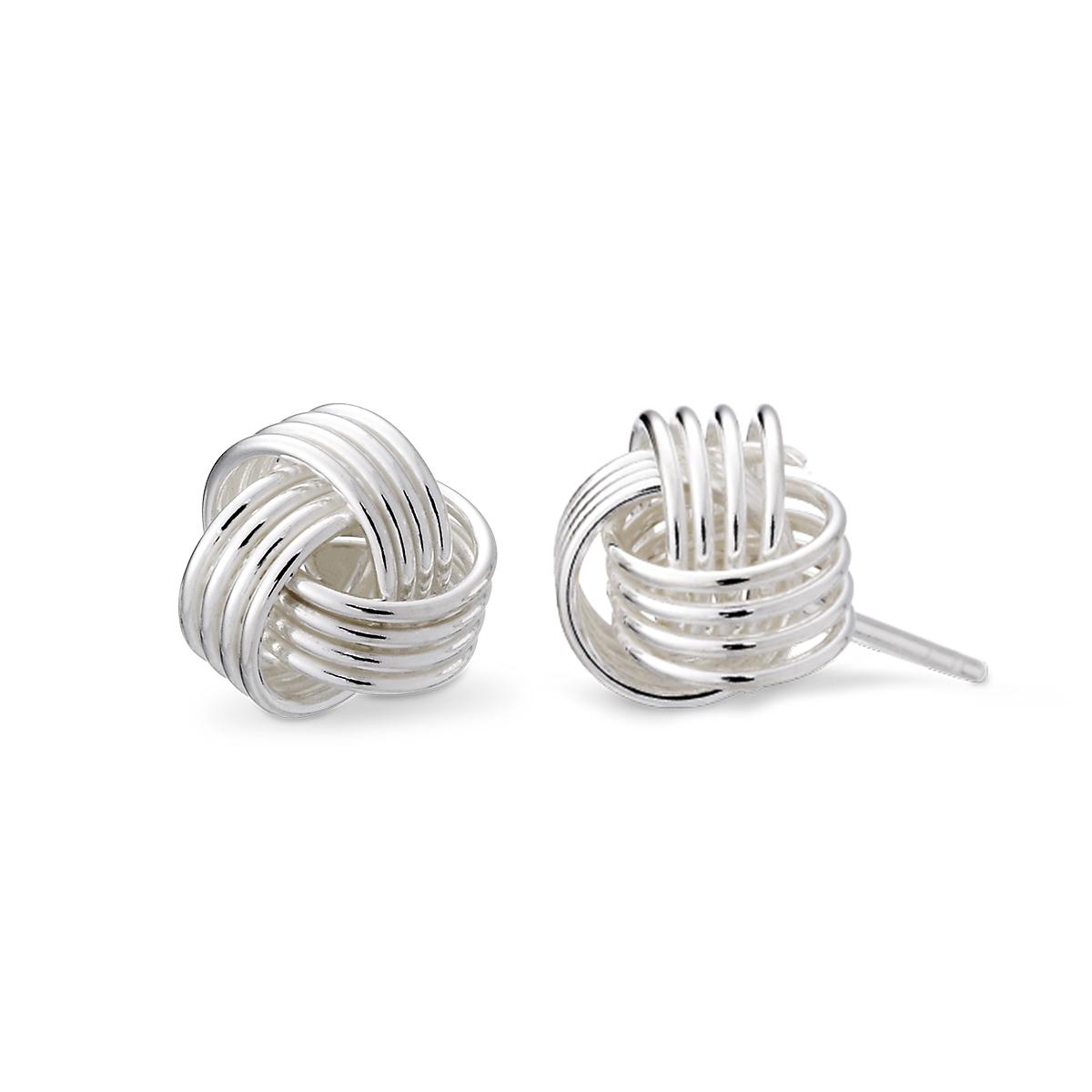 ES118 繽紛時光姊妹耳環|6x6mm/一對販售