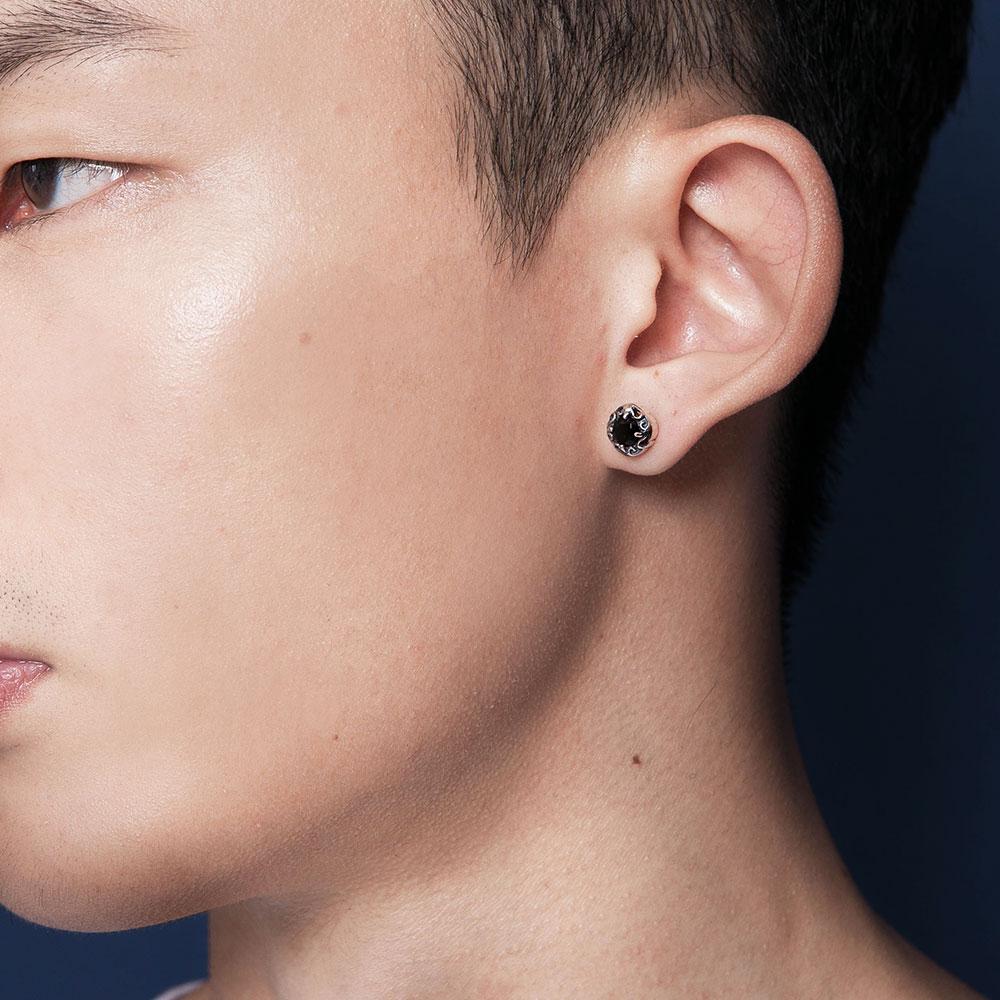 ES12 單鑽造型耳環/單隻販售
