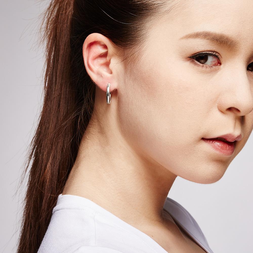 ES63 簡約哲學-圓圈簡約耳環 | 2cm/一對販售