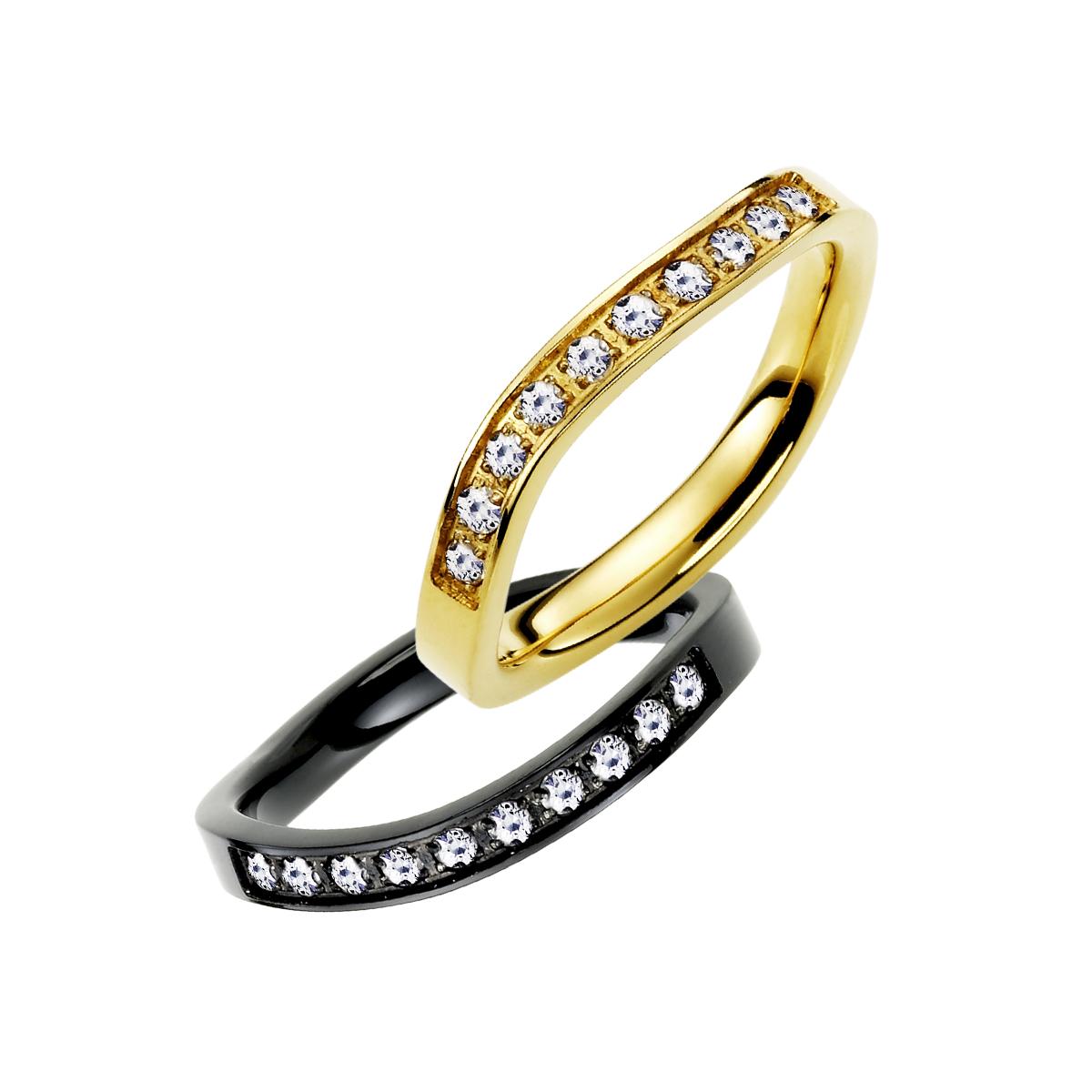 K327 優雅曲線經典時尚款戒指