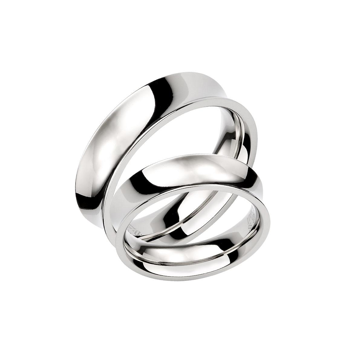KIH118 獨特凹面造形情侶戒指