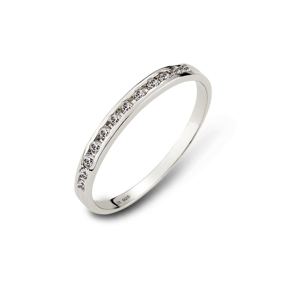 KSH28 戀愛節奏細款排鑽情侶戒指