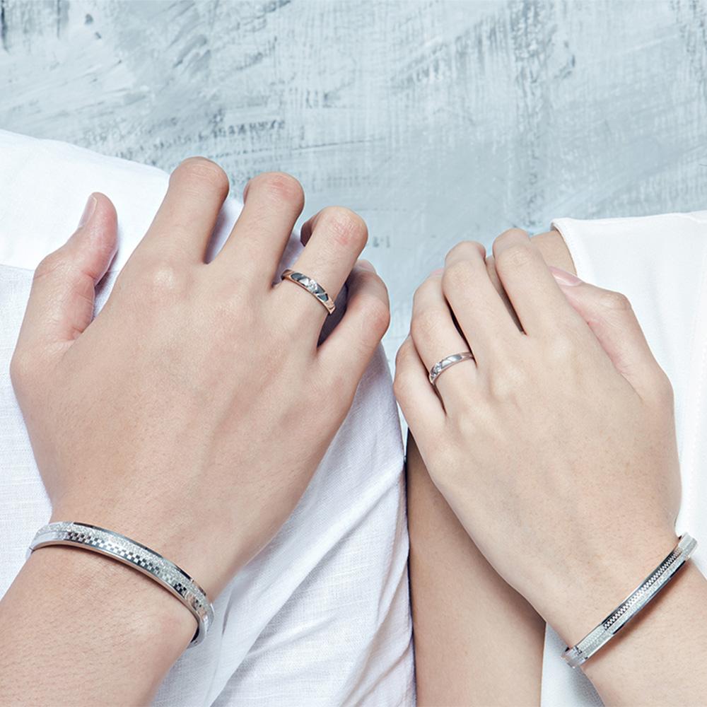 KSM36 優雅特殊切面單鑽戒指