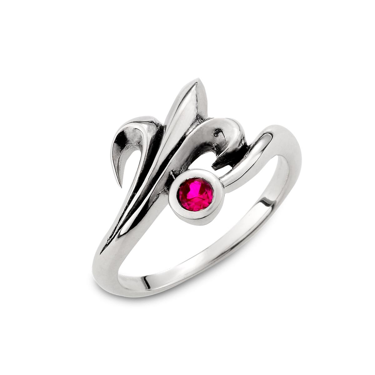 KSM96 硫化紅心矛個性戒指