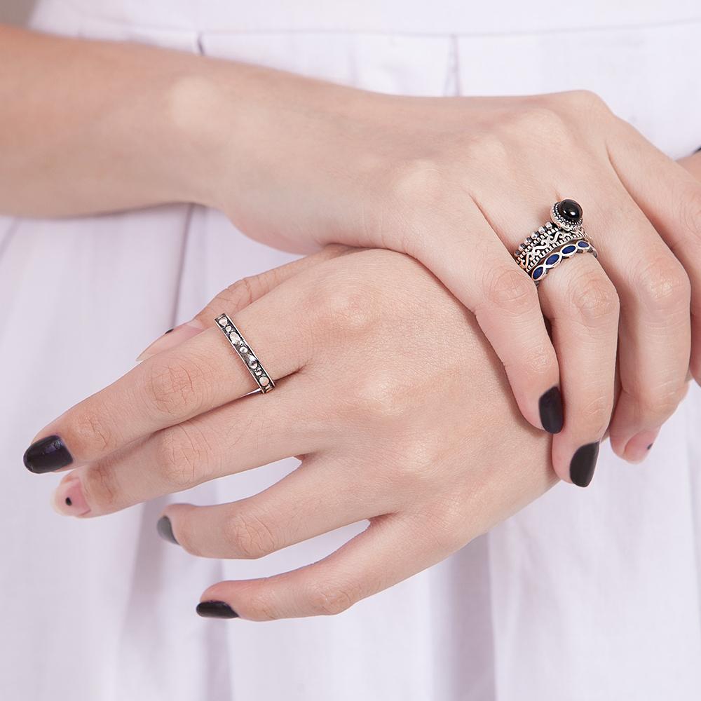 KSW164 黑色河流染黑戒指