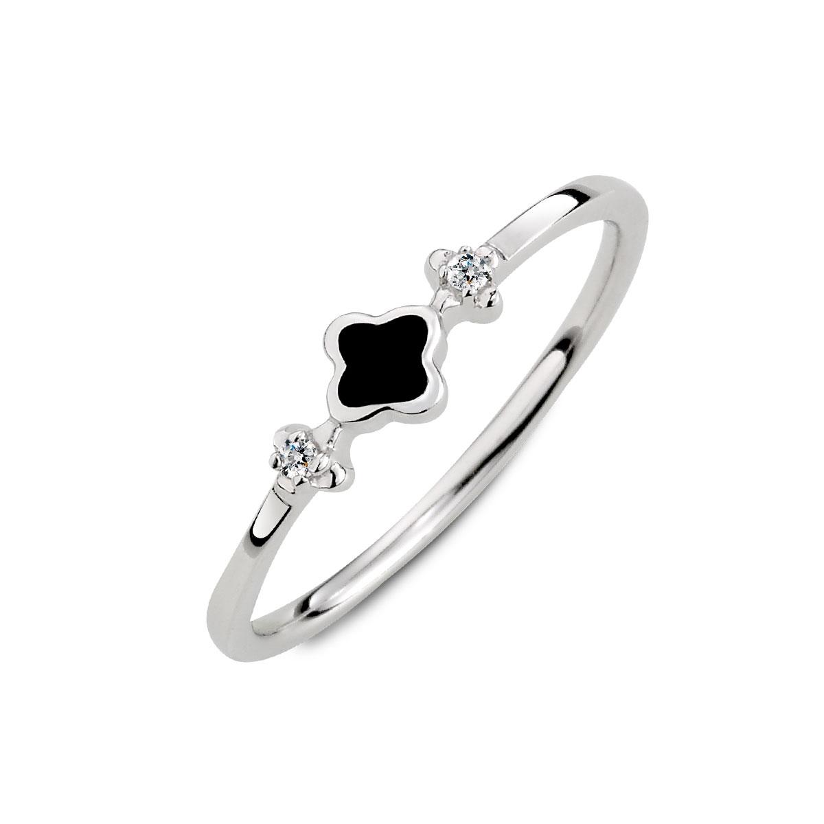 KSW216 細緻花朵簡約姊妹戒指