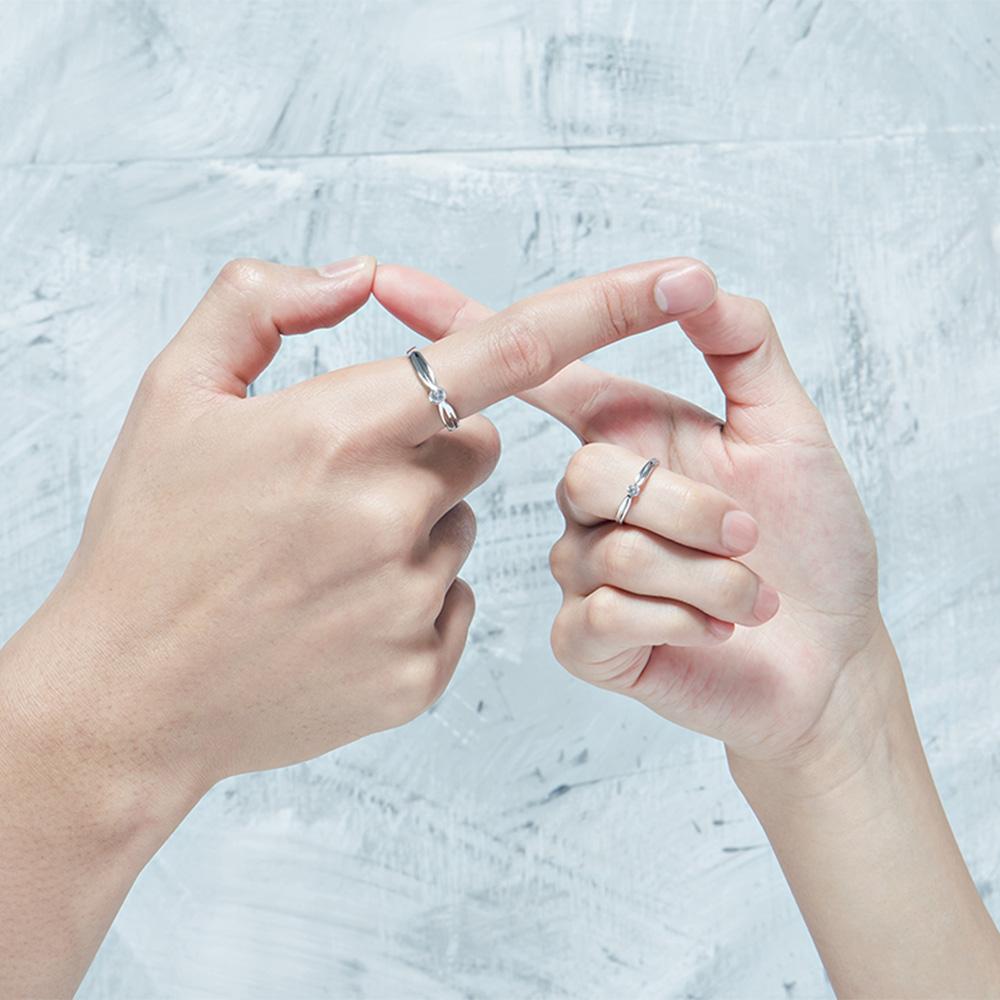 KSW250 單鑽流線感造戒指