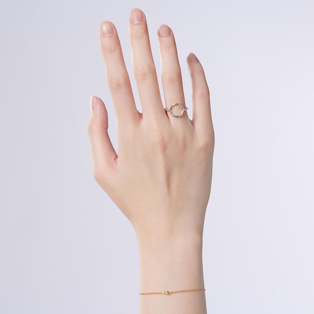 KSW314 簡約哲學-姊妹款時光之洞簡約戒指