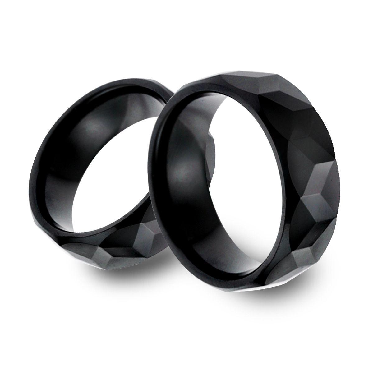 KT11 經典黑色龜面寬版戒指