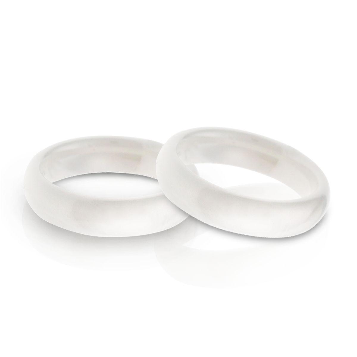 KT2 經典雋永白色窄版簡約戒指/尾戒