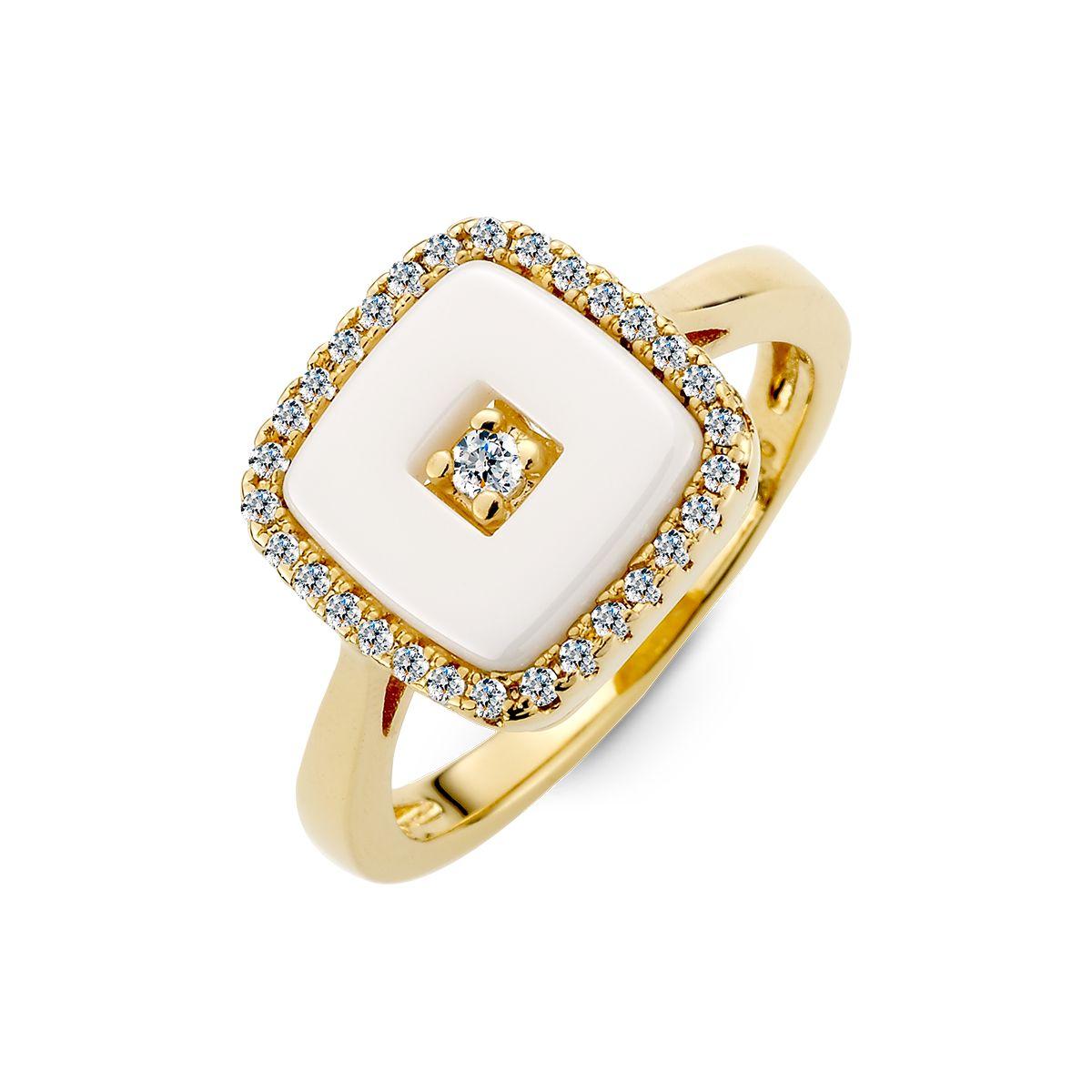 KT26 方形幾何經典戒指