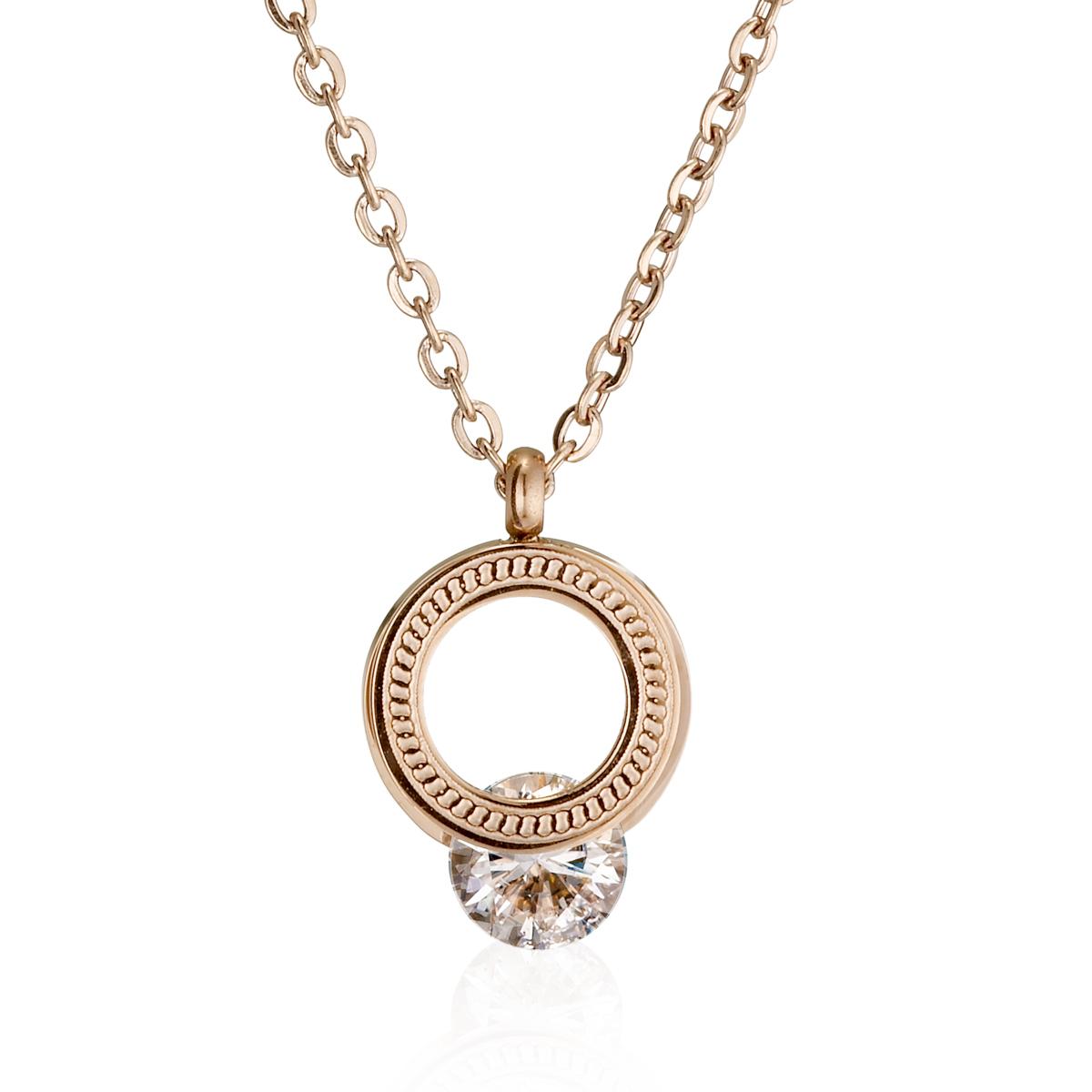A409 造型環狀美鑽項鍊