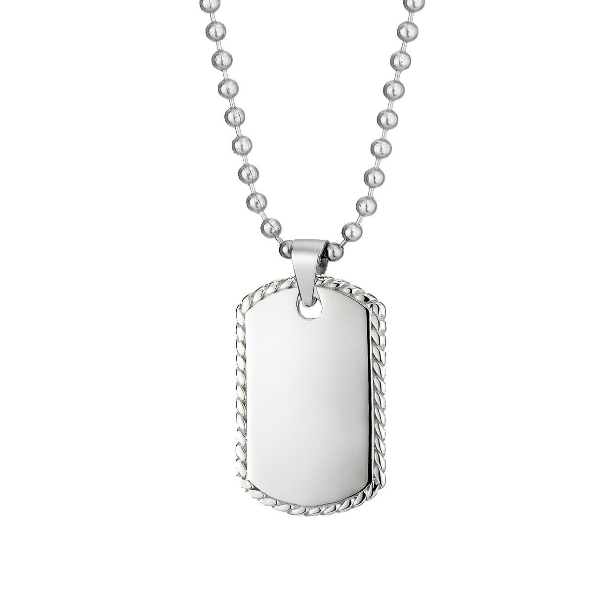 AE78 美國軍牌勇敢經典刻字項鍊