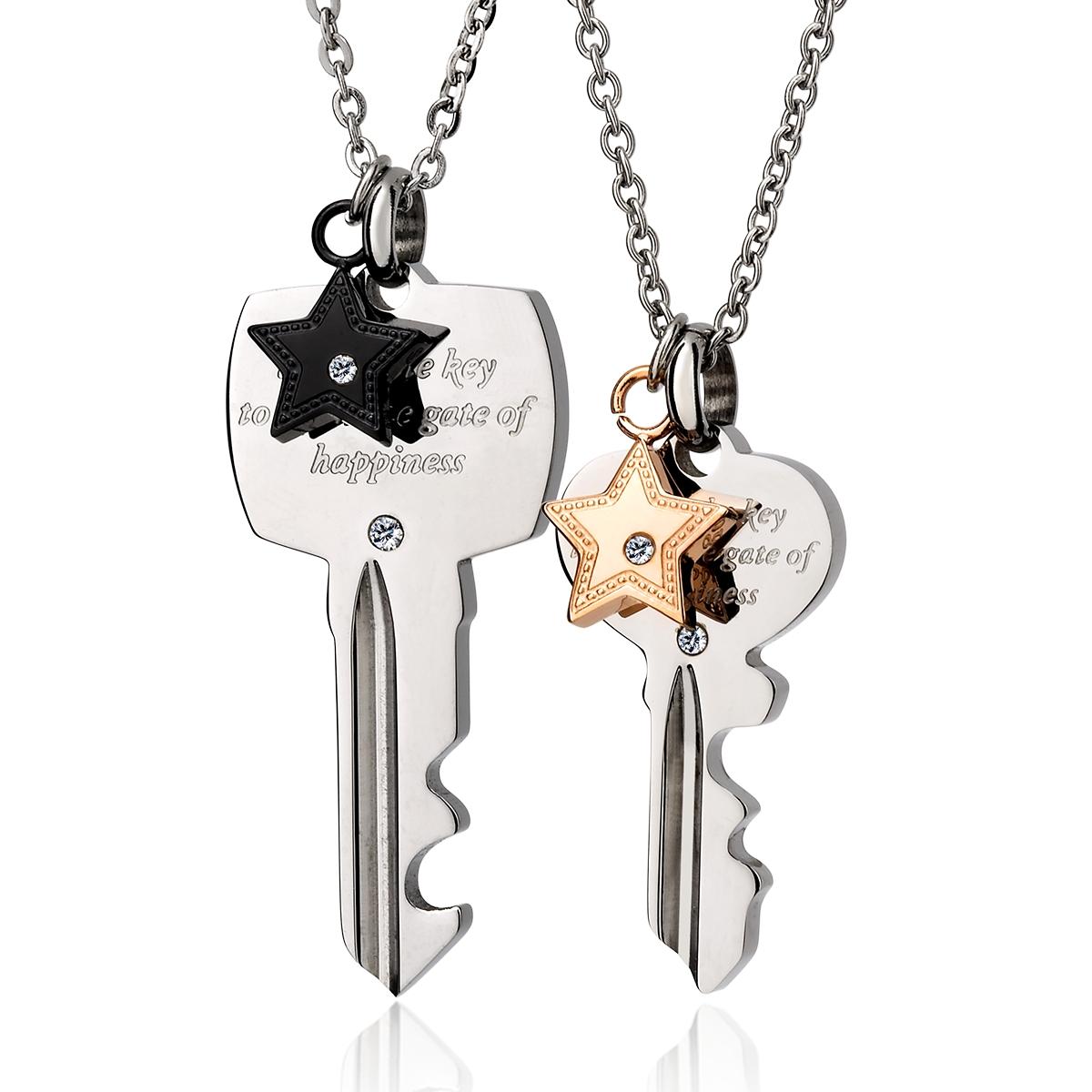 AIH355 愛的心鑰情侶對鍊