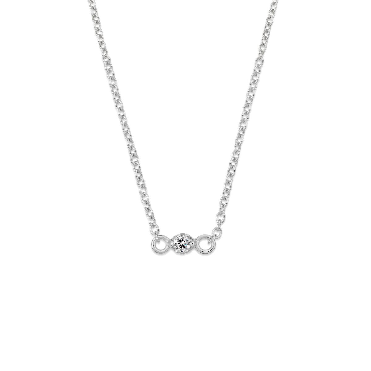 AS50 星情寄語-單鑽細緻項鍊/頸鍊/腳鍊