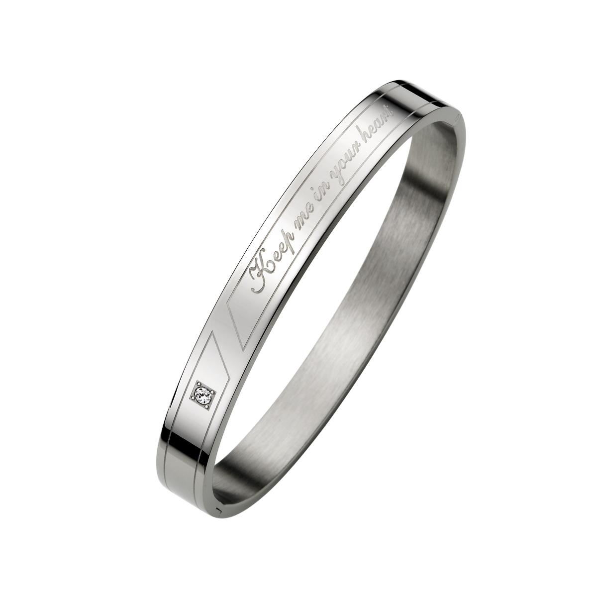 CIM52 心與妳同在金屬感手環