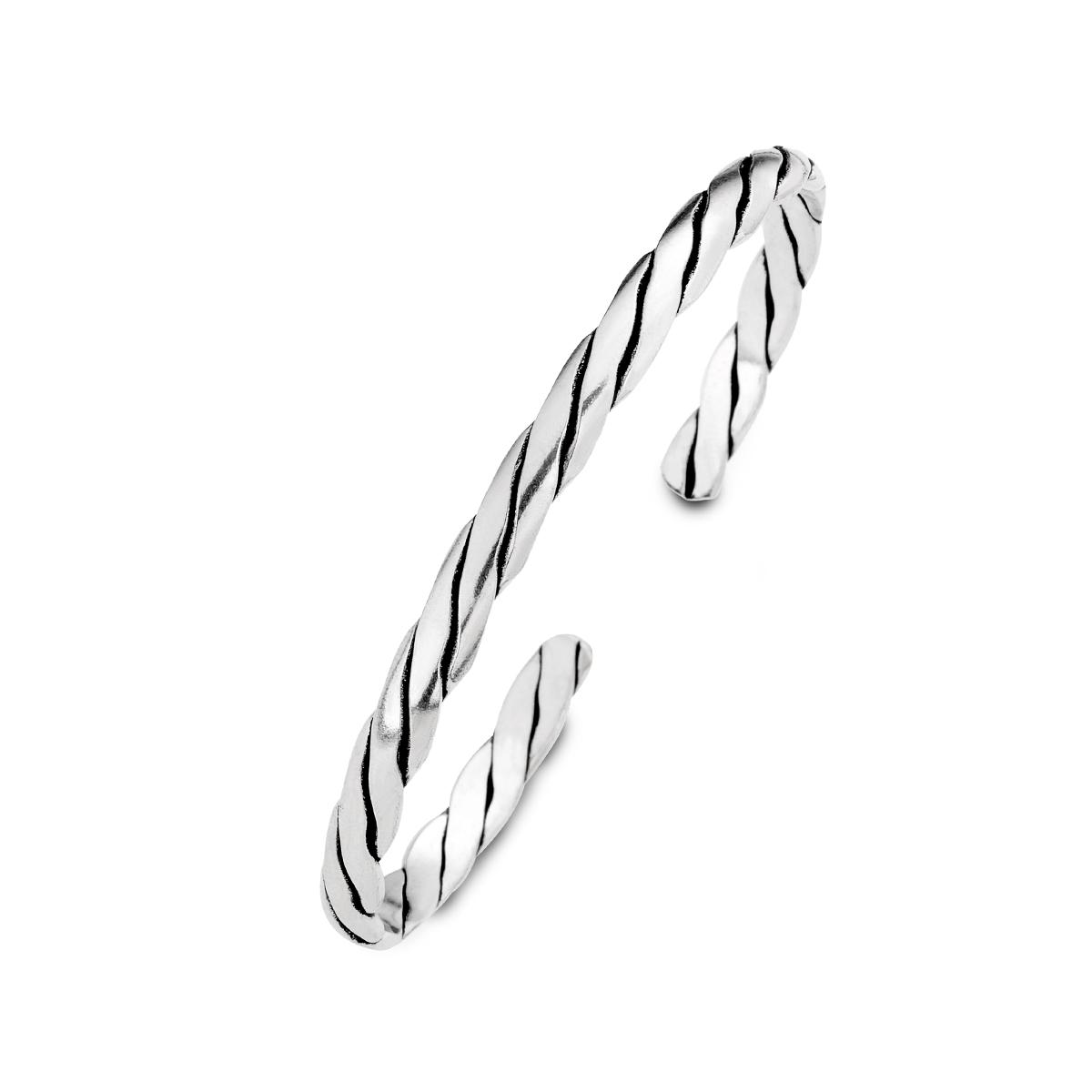 CS143 經典麻花-粗線扭轉造型活圍手環