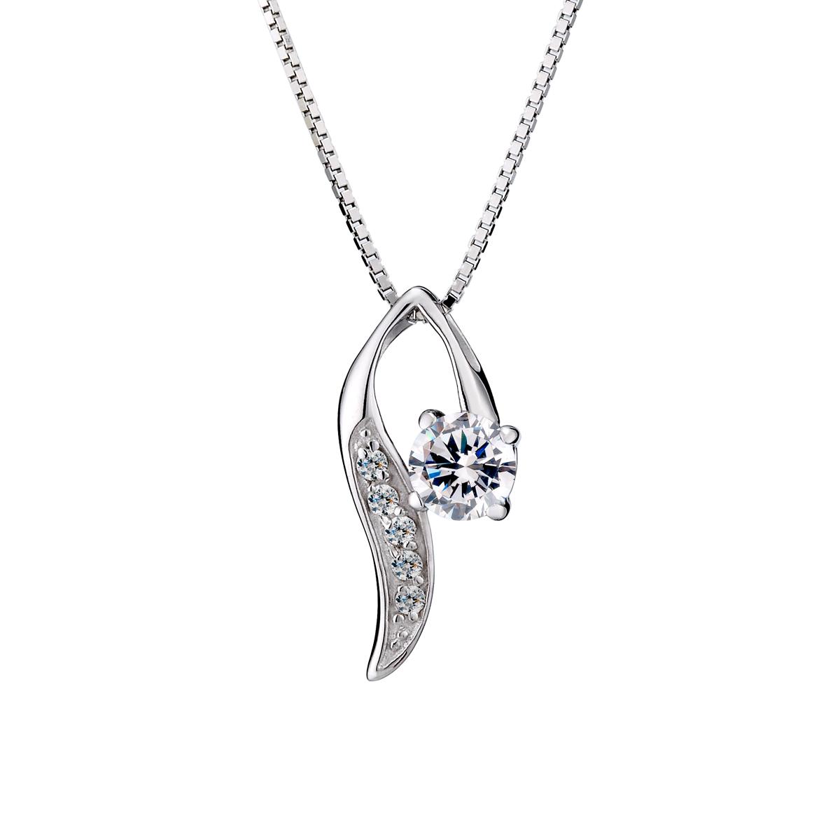 D7 葉瓣簍空美鑽項鍊
