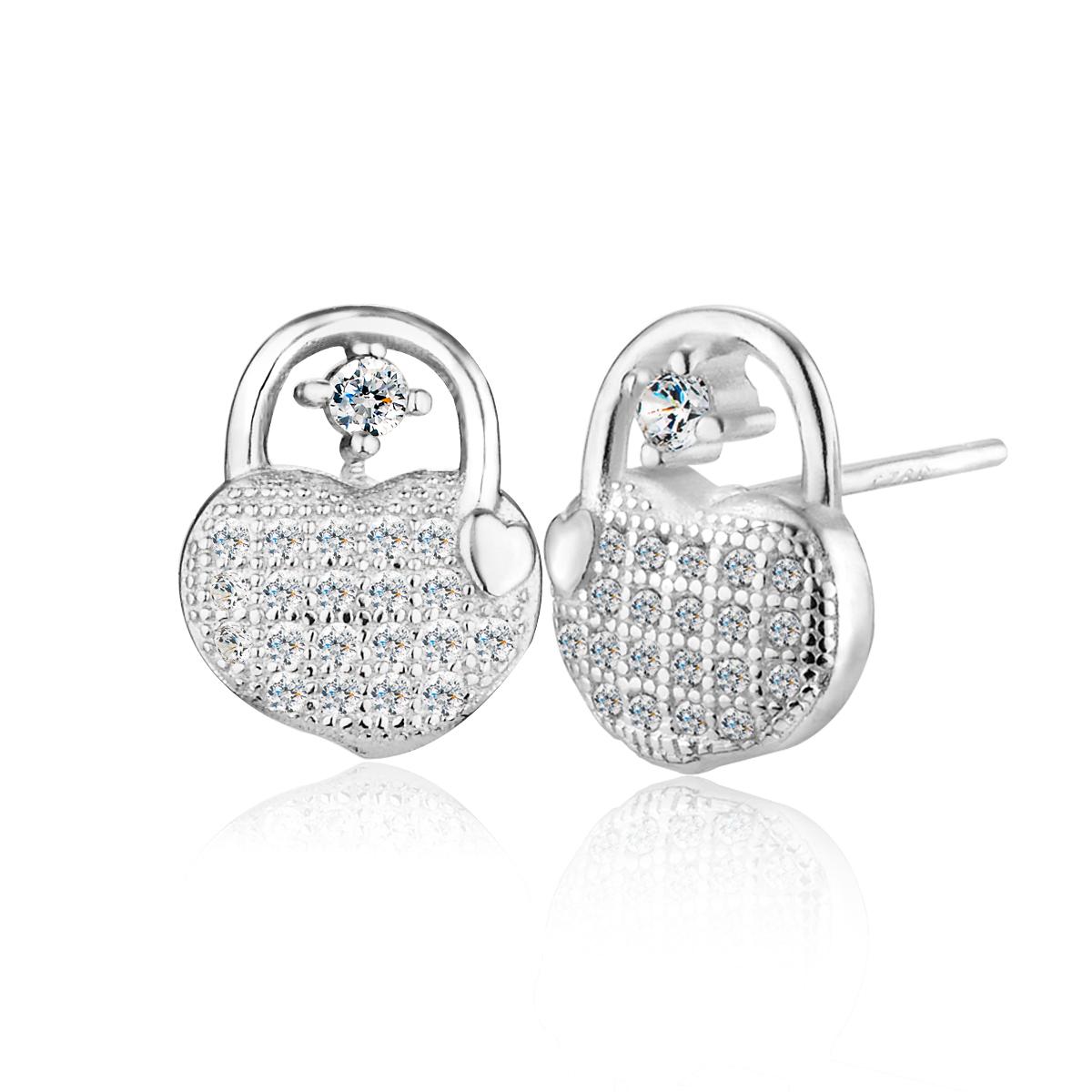 ED138 手提愛心包造型耳環/一對販售