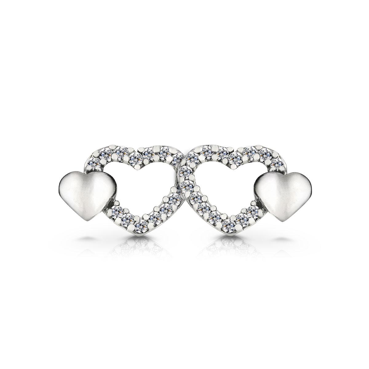 ED41 愛情在身邊心型耳環/一對販售