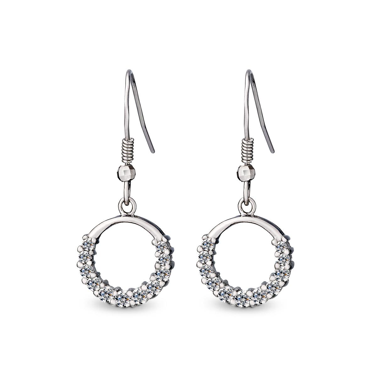ED81 星環美鑽耳環/一對販售