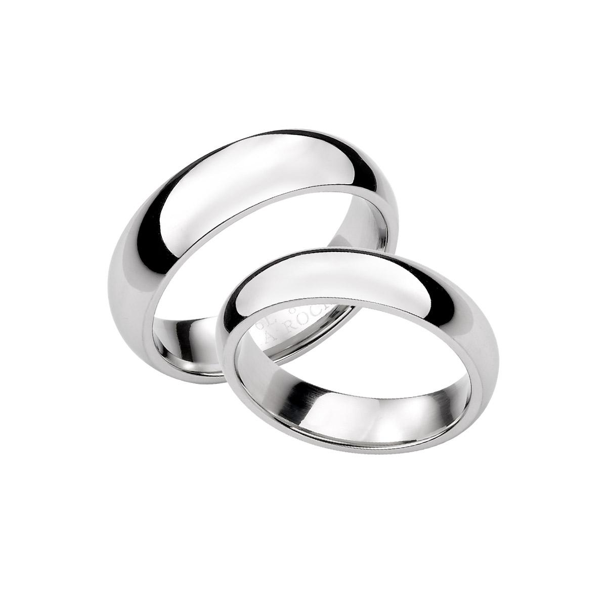 KIH159 經典素面弧面情侶戒指