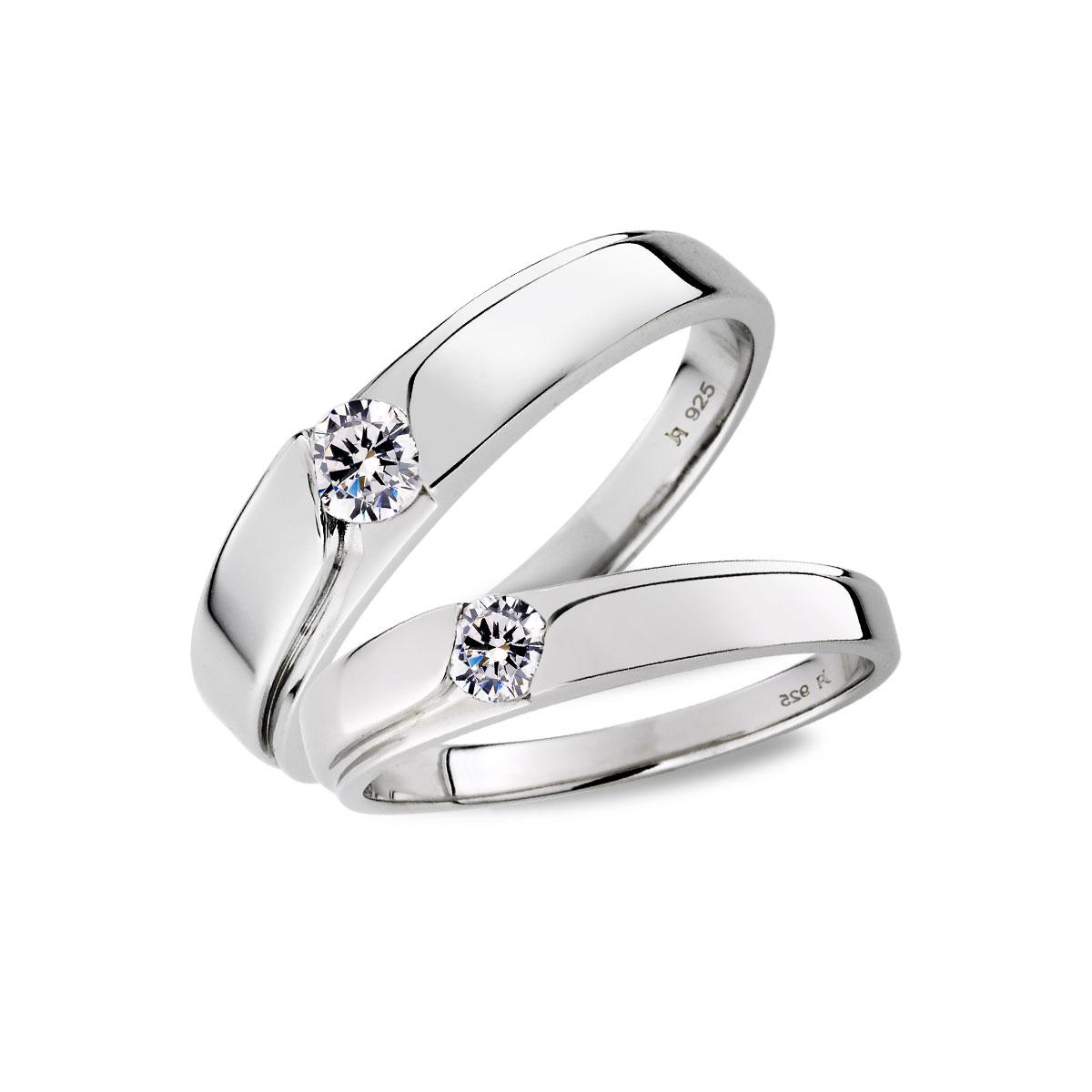 KSH12 因你而在單鑽情侶戒指