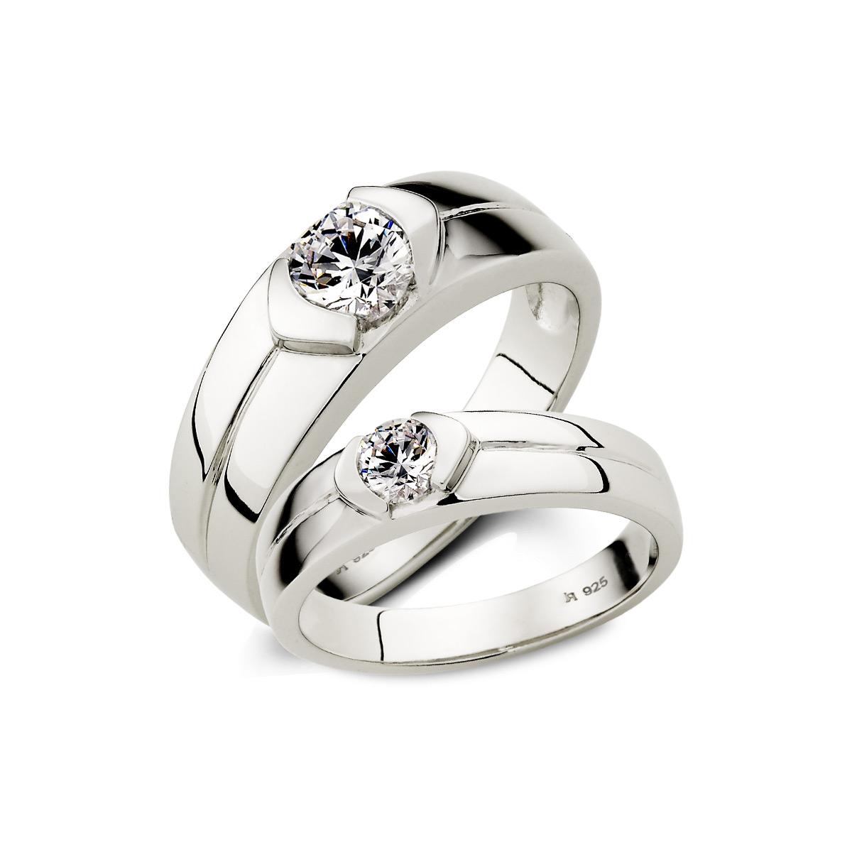KSH24 真情告白單鑽情侶戒指