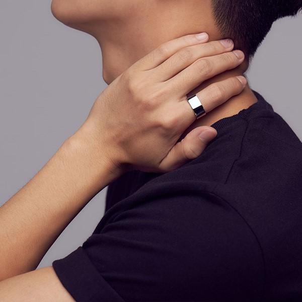 KSM127 經典方形造型厚實戒指