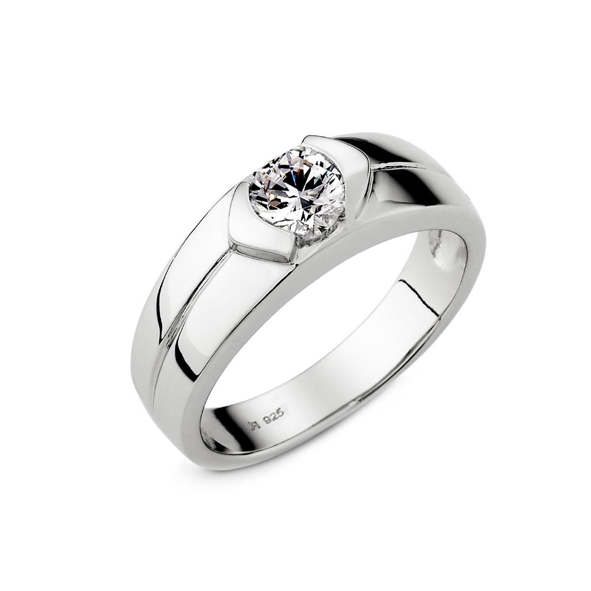 KSM52 真情告白單鑽流線感戒指