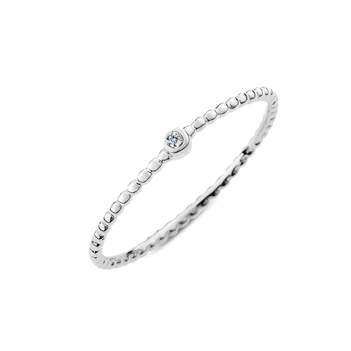KSW186 珠珠美鑽簡約戒指