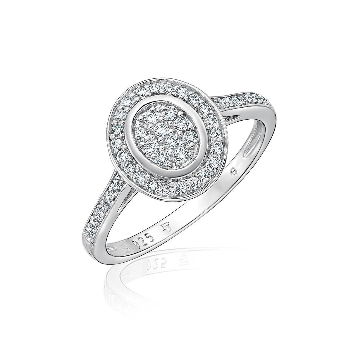 KSW205 璀璨軌跡-氣勢橢圓鑽台奢華珠寶戒指