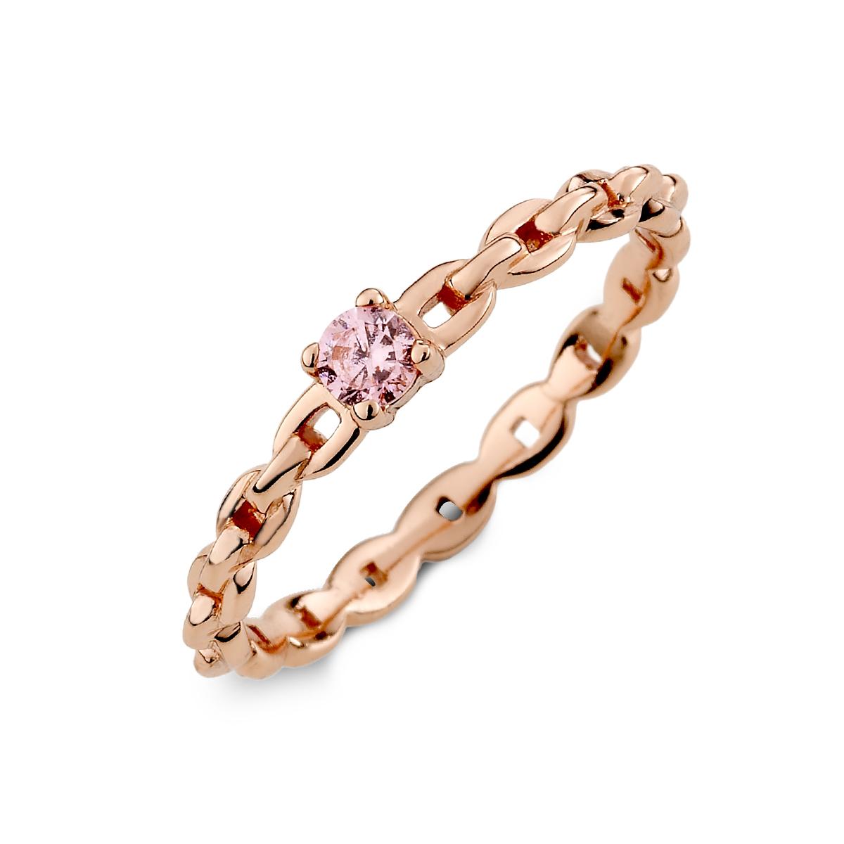 KSW220 鎖鏈款式彩鑽戒指