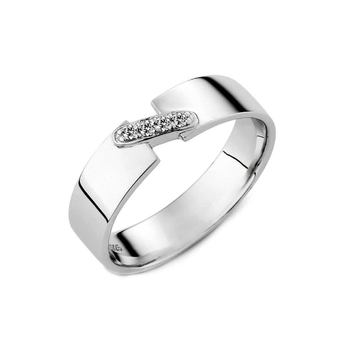 KSW266 銀色舞曲滿鑽戒指