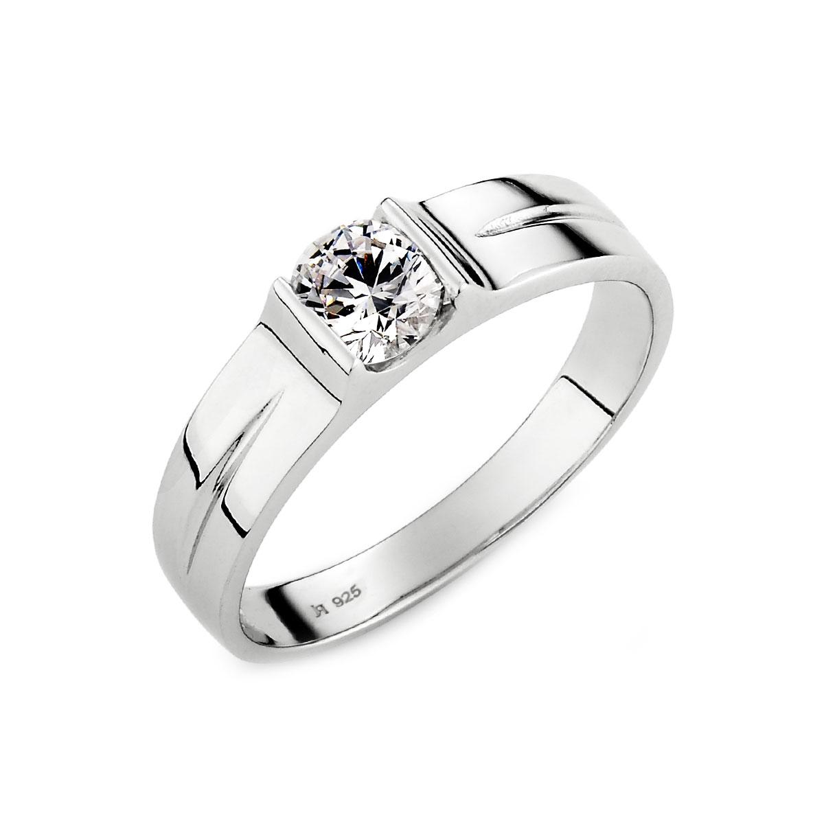 KSW270 因你而在流線感單鑽戒指