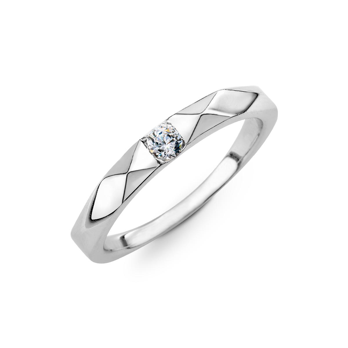 KSW294 菱形面單鑽戒指