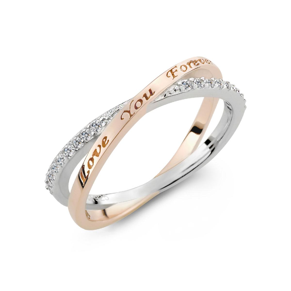 KSW295 彼此永遠的愛交叉戒指