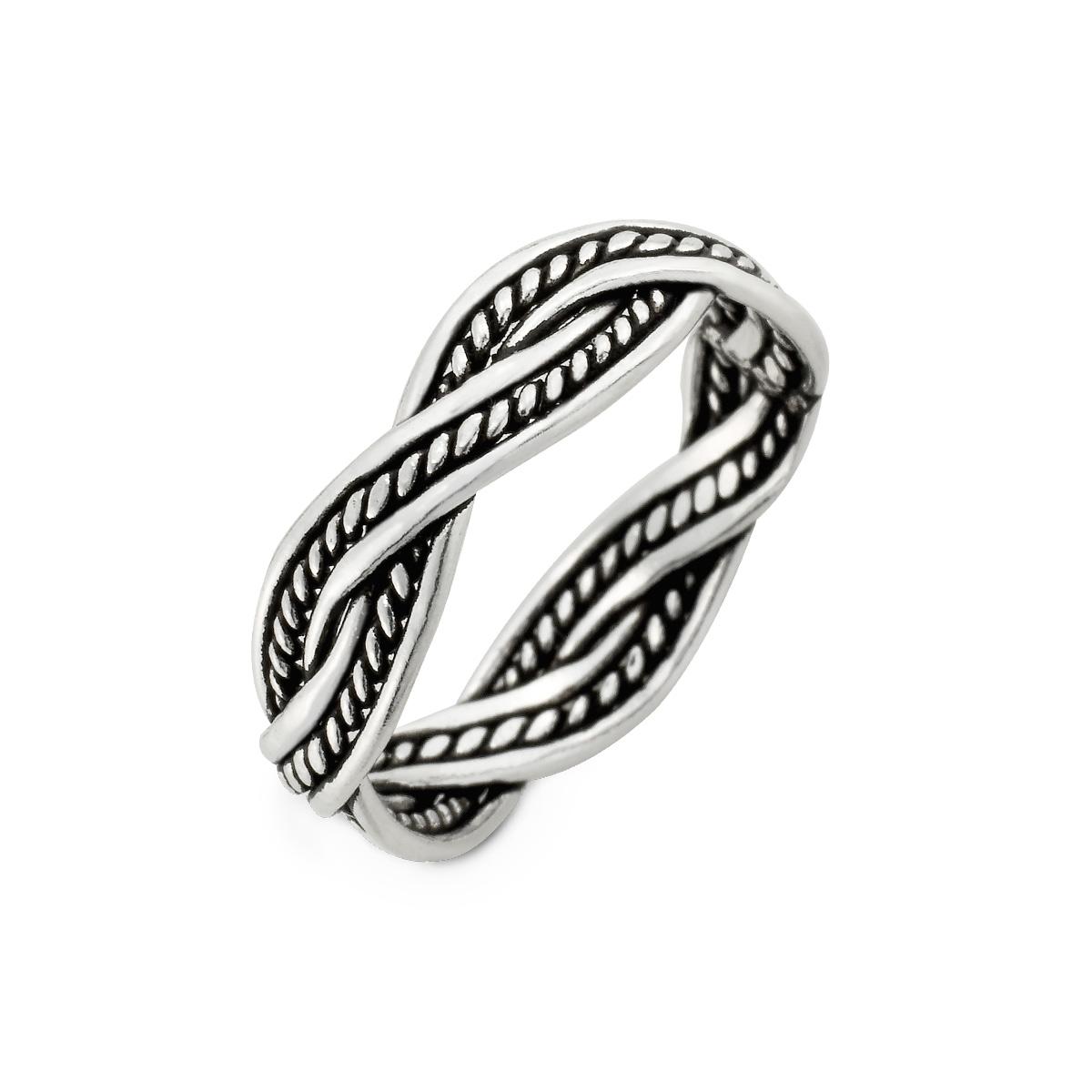 KSW311 經典麻花-姊妹款率性蛇紋麻花戒指
