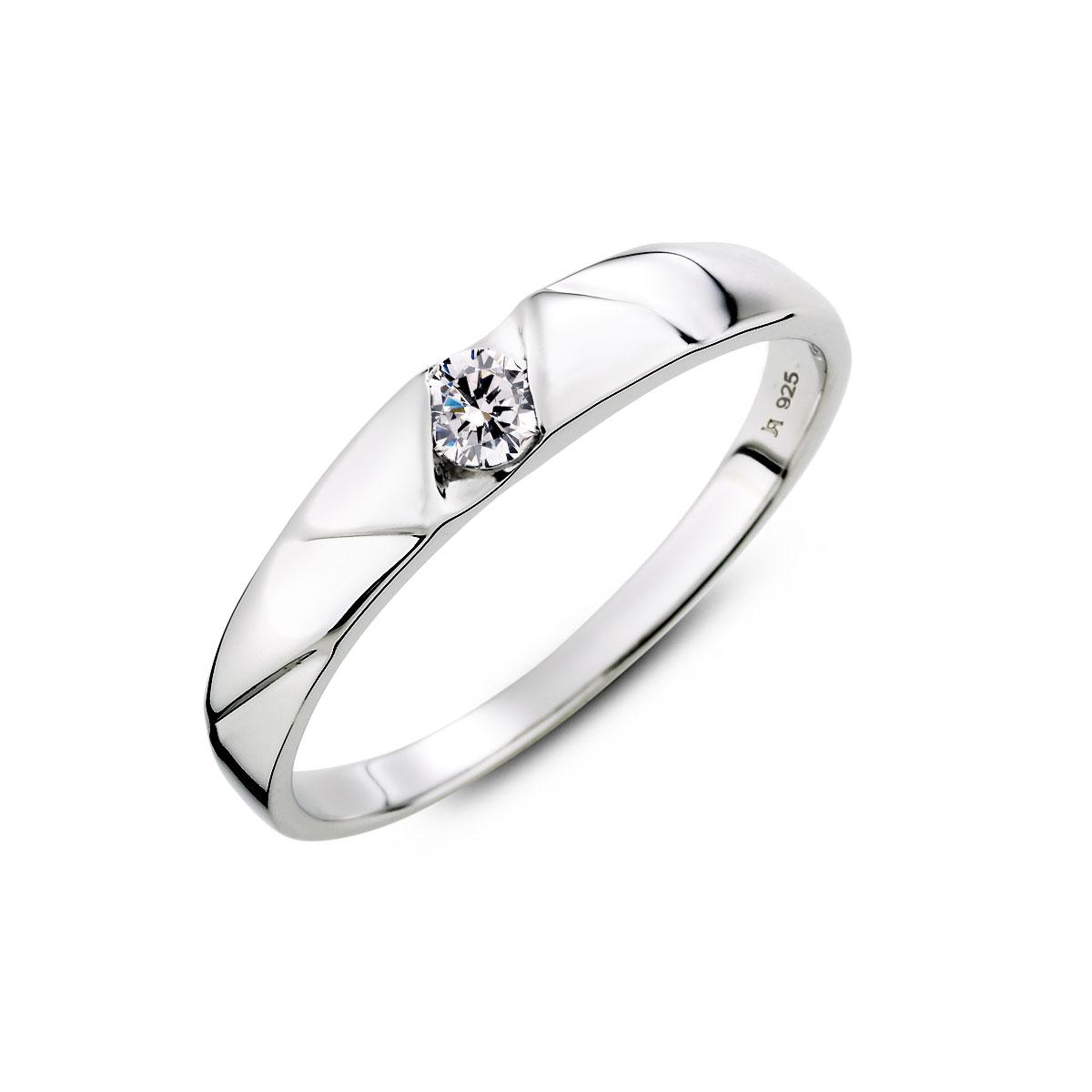 KSW345 優雅特殊切面單鑽戒指