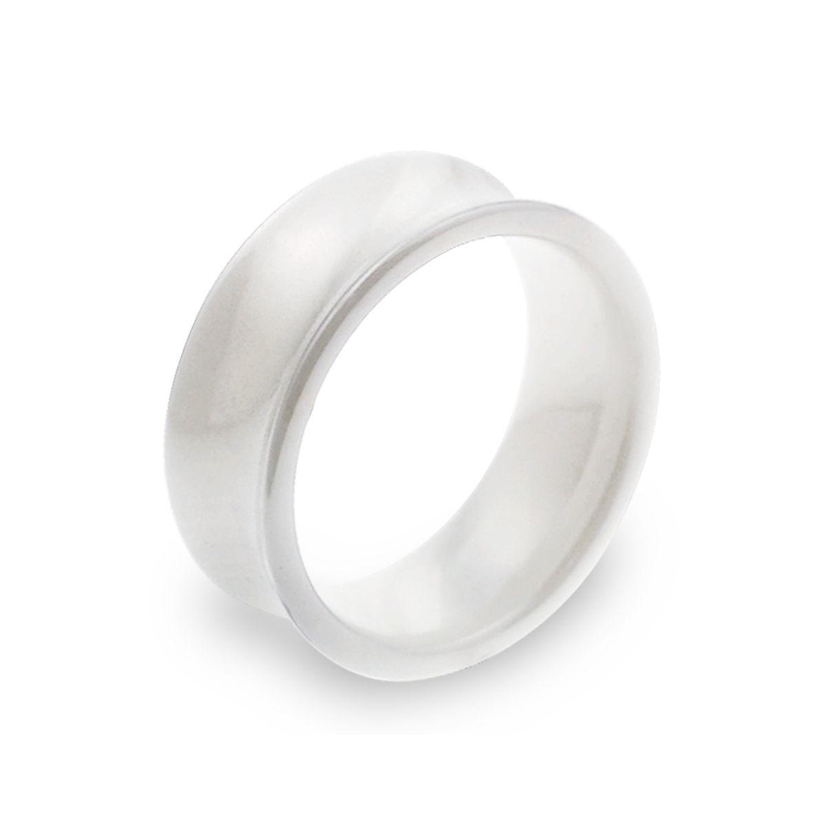 KT20 經典純淨白凹弧寬版戒指